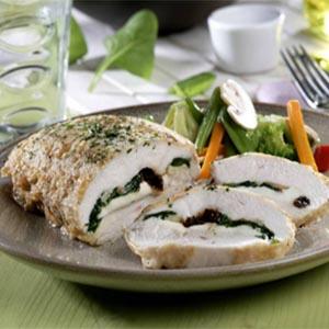 Pechuga de pollo rellena de espinacas