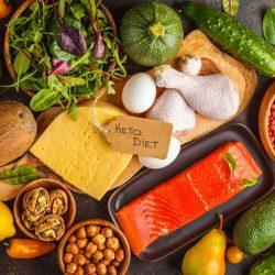 Foto con los alimentos permitidos para la dieta keto