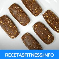 Barrita proteica con sabor chocolate totalmente casera y saludable
