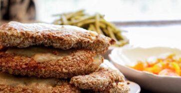 Hamburguesa de pollo y avena