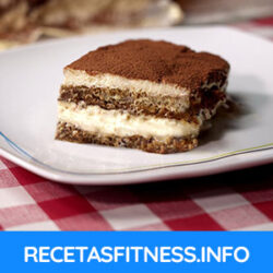 Tiramisú fitness sin azúcar casero