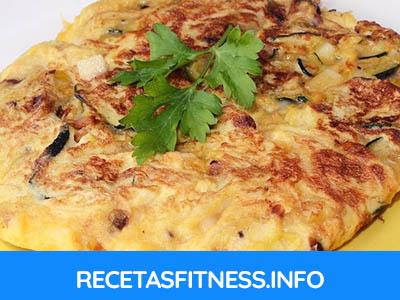 Tortilla de berenjena, pimiento y cebolla totalmente saludable